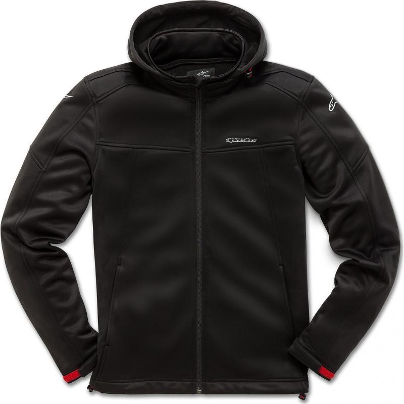 Sweat zip à capuche Alpinestars Stratified noir