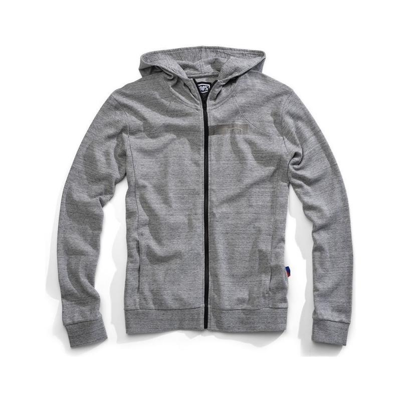 Sweat zip capuche 100% Chamber gris
