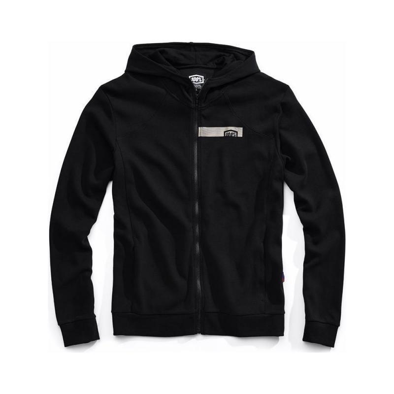 Sweat zip capuche 100% Chamber noir