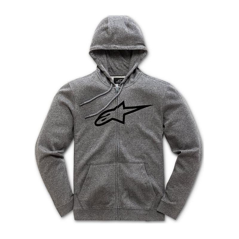 Sweat zippé à capuche Alpinestars Ageless II grey heather/black