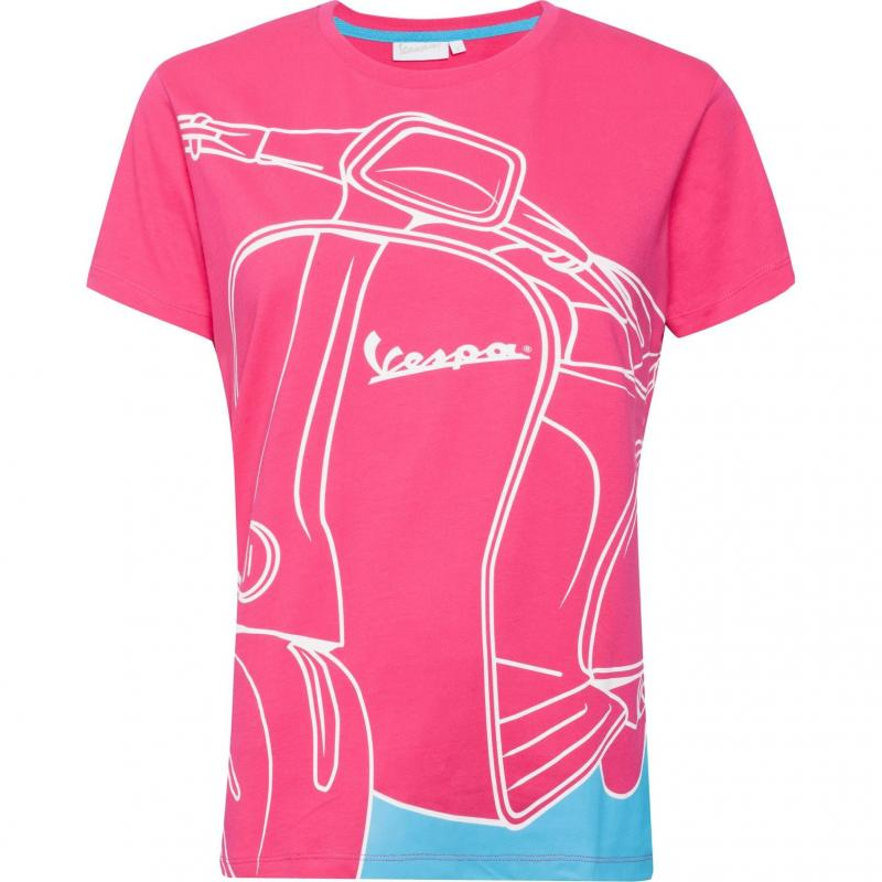 T-shirt femme Vespa 70 Years Young rose/bleu