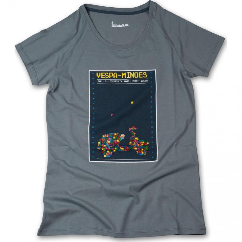 T-shirt femme Vespa Minoes gris