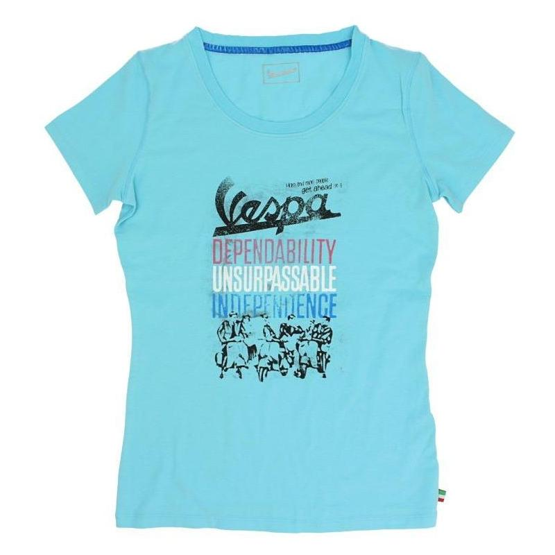 T-shirt femme Vespa Vintage Graphics bleu
