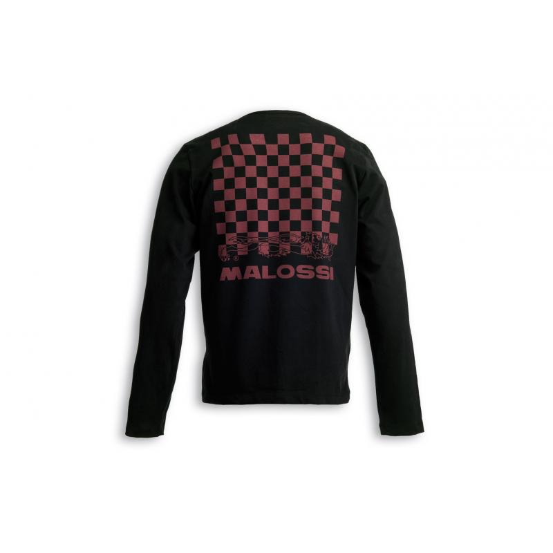 T-shirt Malossi manche longue griffe logo noir