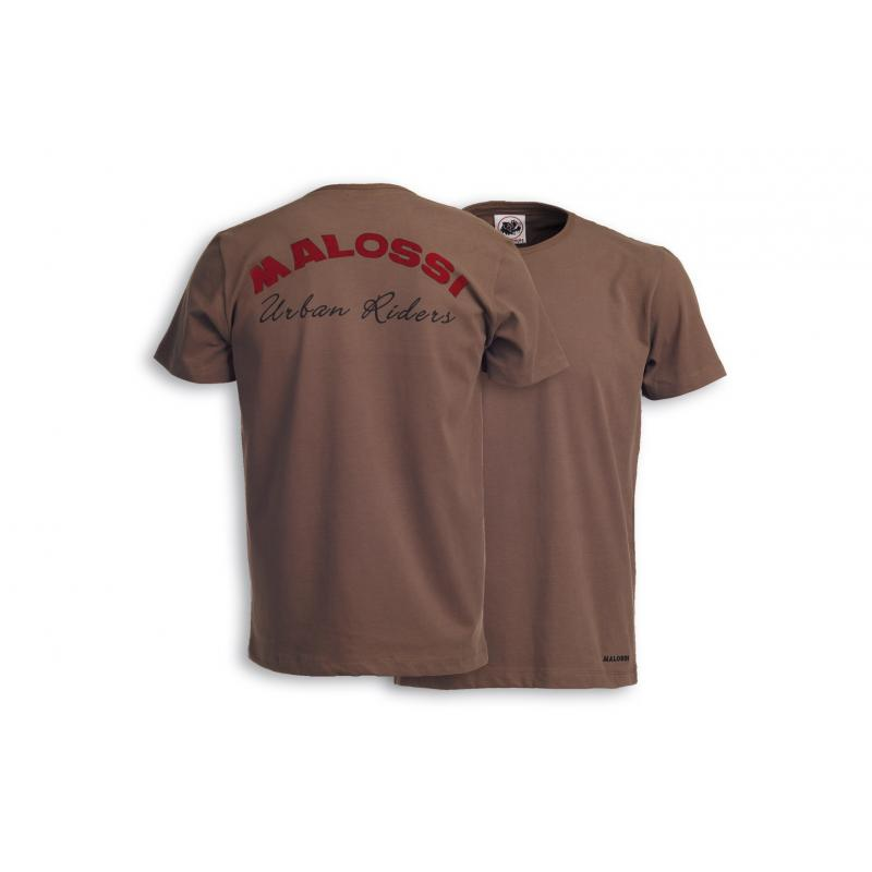 T-shirt Malossi Riders marron
