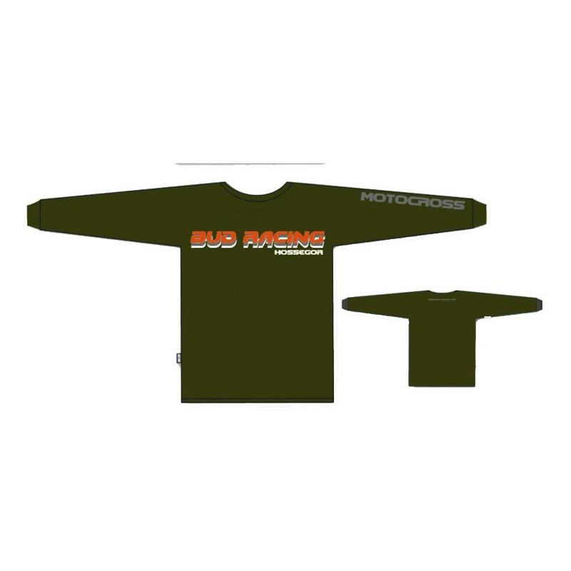 T-shirt manches longues enfant Bud Racing shadow ML army