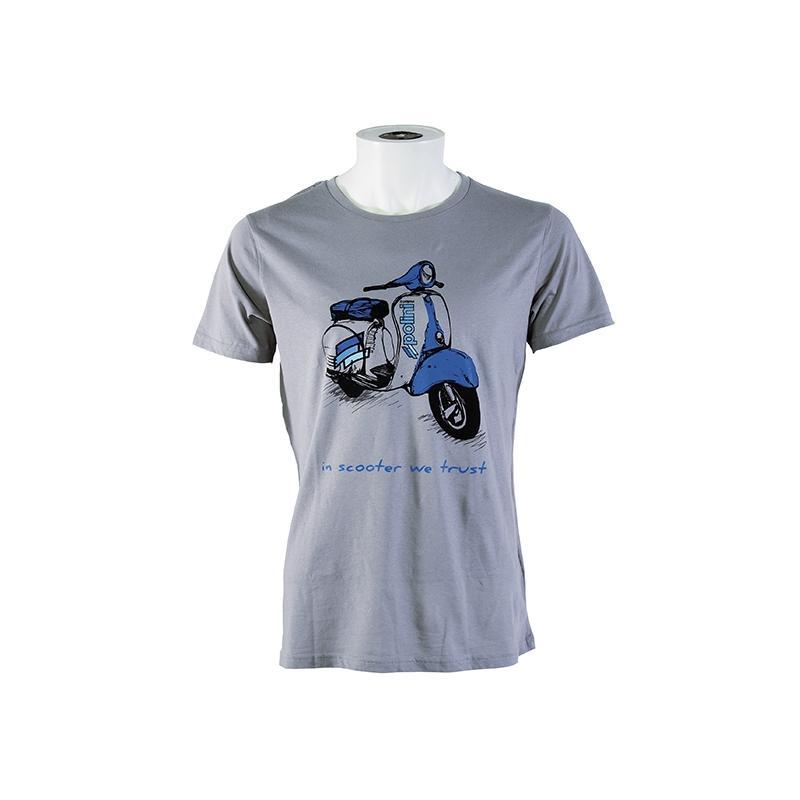 T-shirt Polini Scooter femme gris