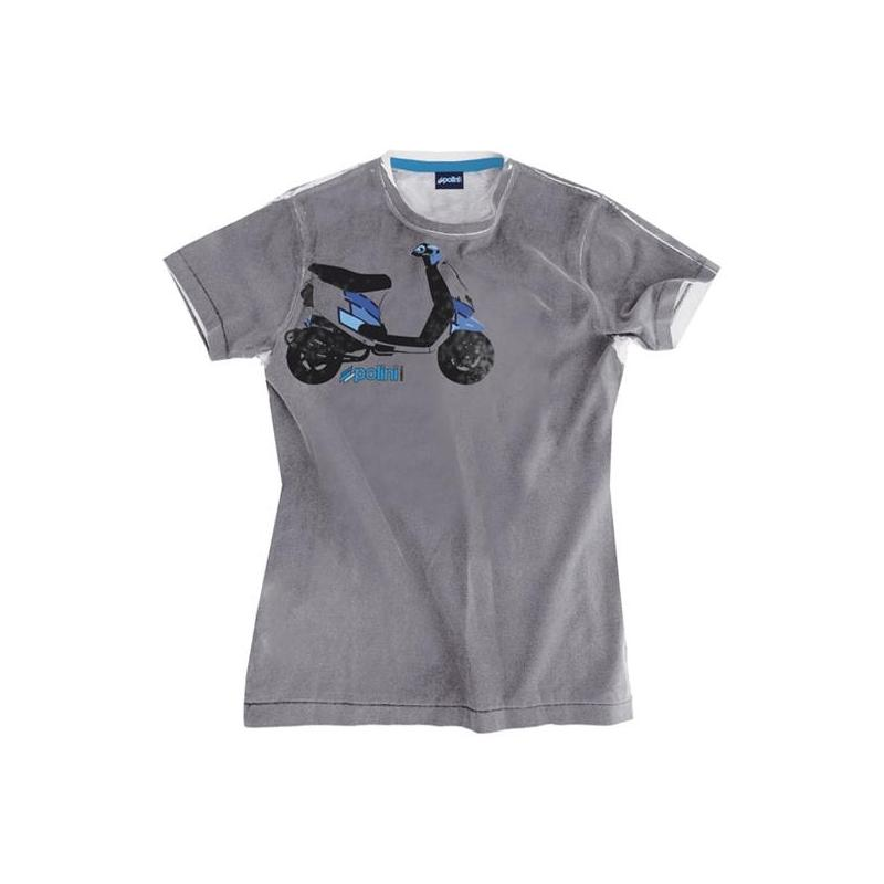 T-shirt Polini Scooter gris