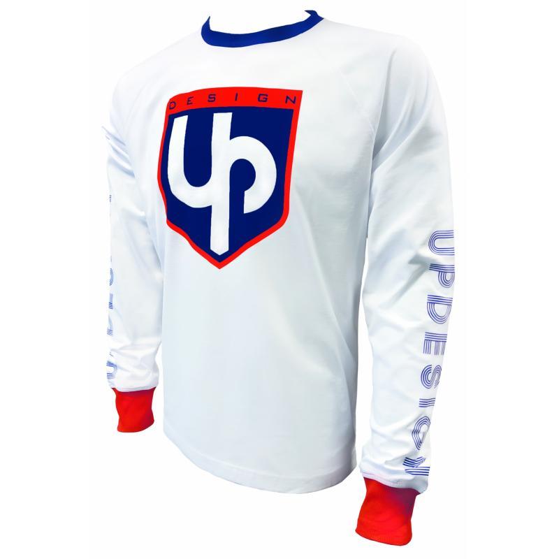T-Shirt UP Design blanc manches longues