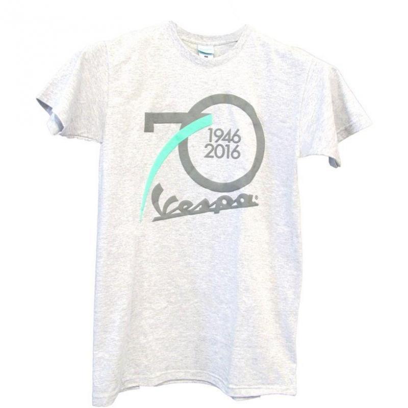 T-shirt Vespa 70th Birthday gris