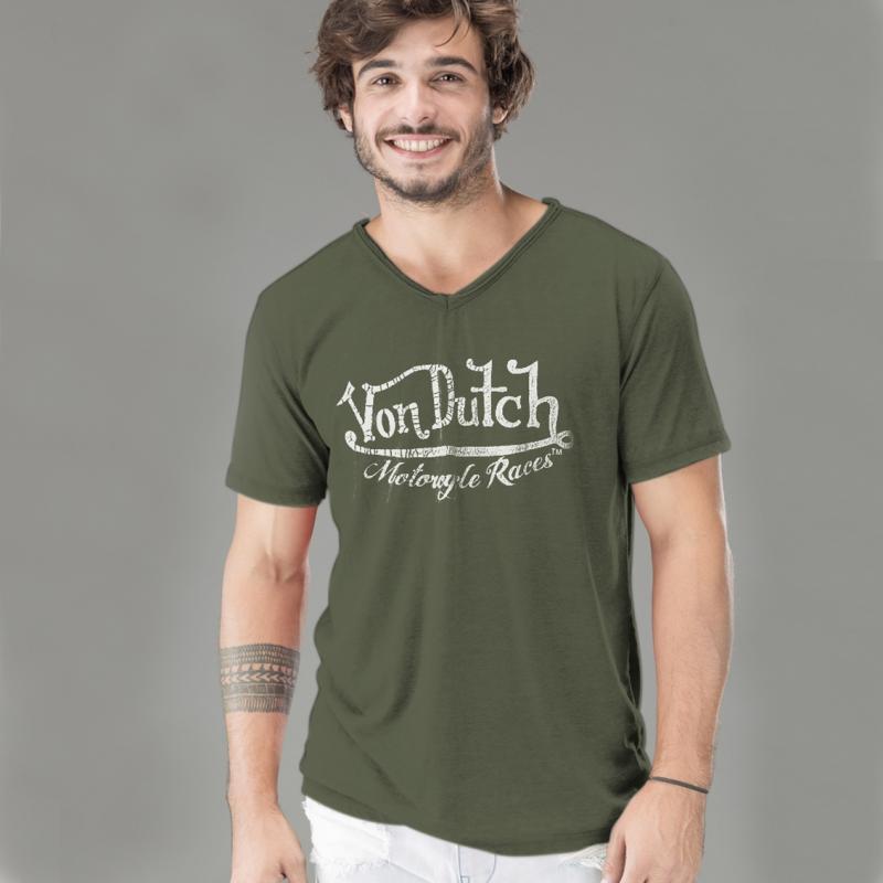 T-shirt Von Dutch Cox kaki