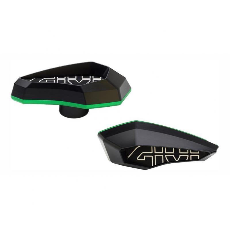 Tampons de protection Givi noir/vert