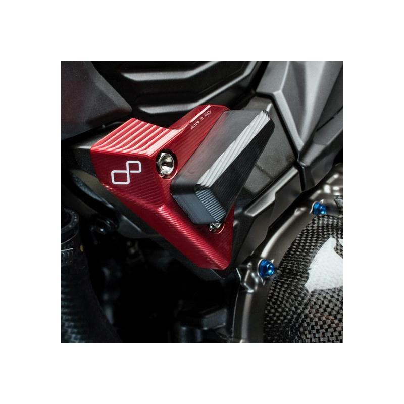 Tampons de protection Lightech rouge Kawasaki Z800 13-15