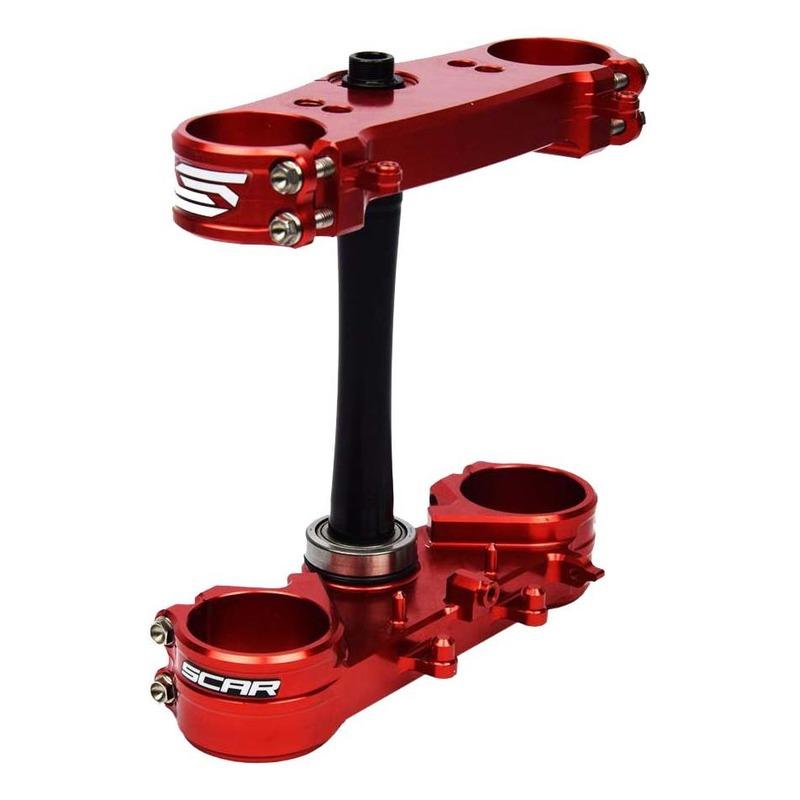 Té de fourche Scar offset 22mm Honda CRF 250R 14-21 rouge