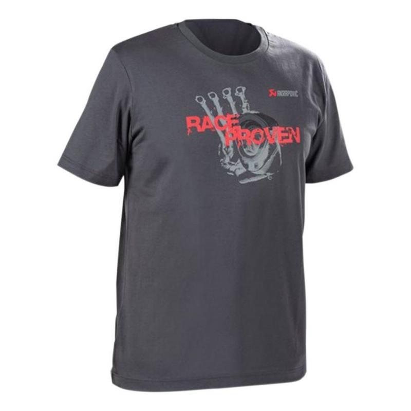 Tee-Shirt Akrapovic Race Pro gris