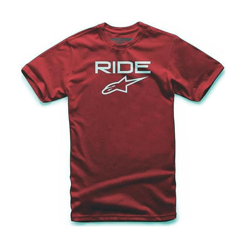 Tee-shirt Alpinestars Ride 2.0 rouge/blanc