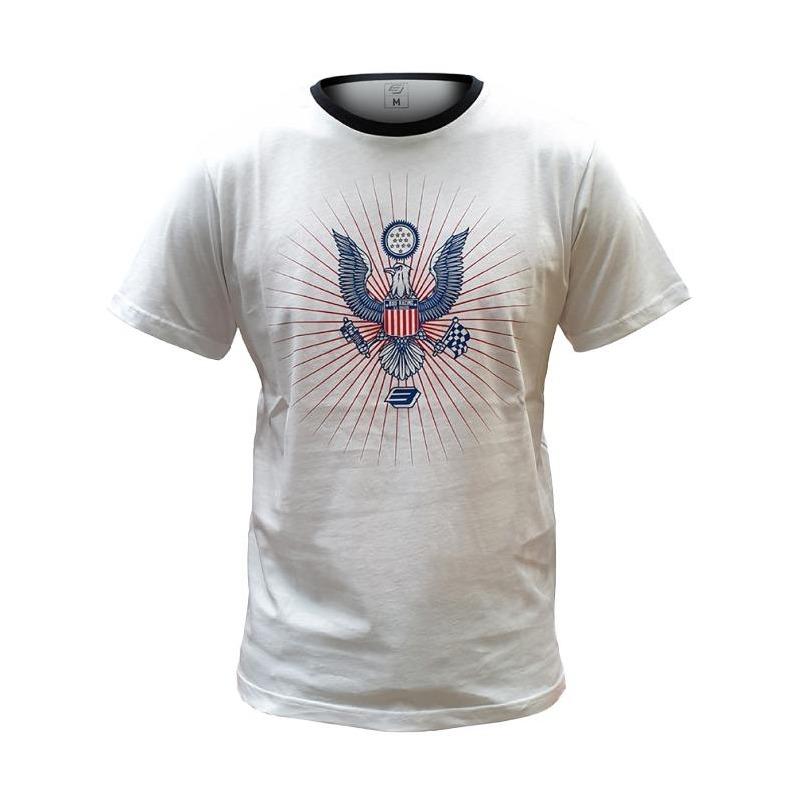 Tee-shirt Bud Racing Eagle blanc/noir