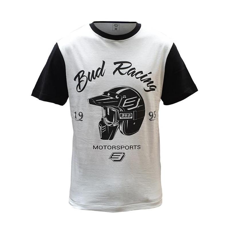 Tee-shirt Bud Racing Helmet blanc/noir