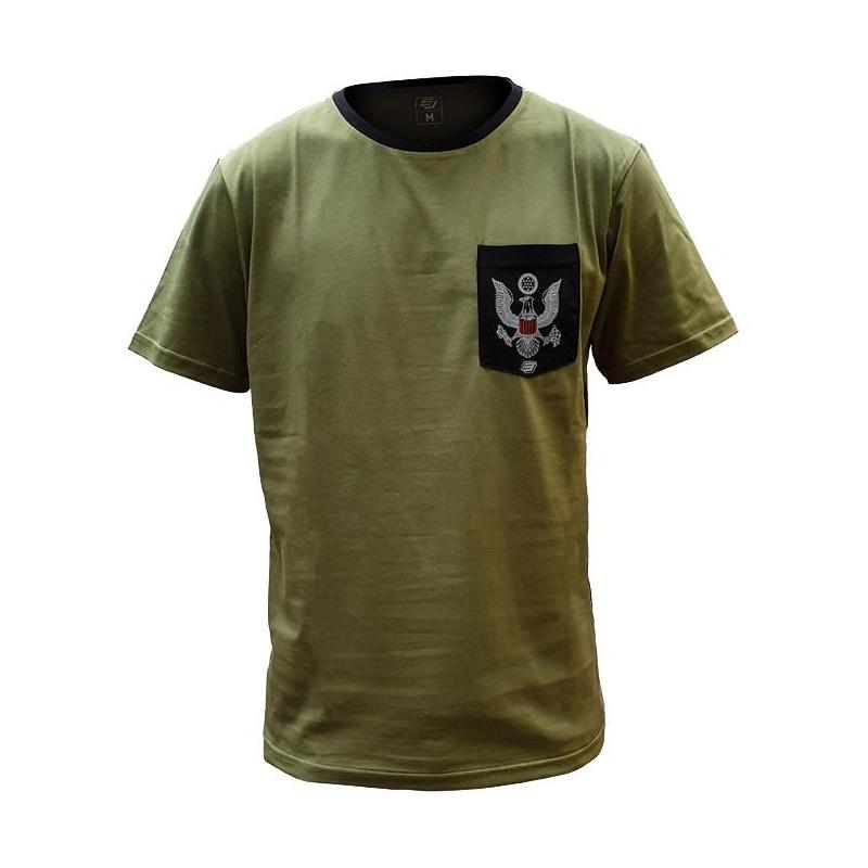 Tee-shirt Bud Racing Patriot Pocket olive/noir