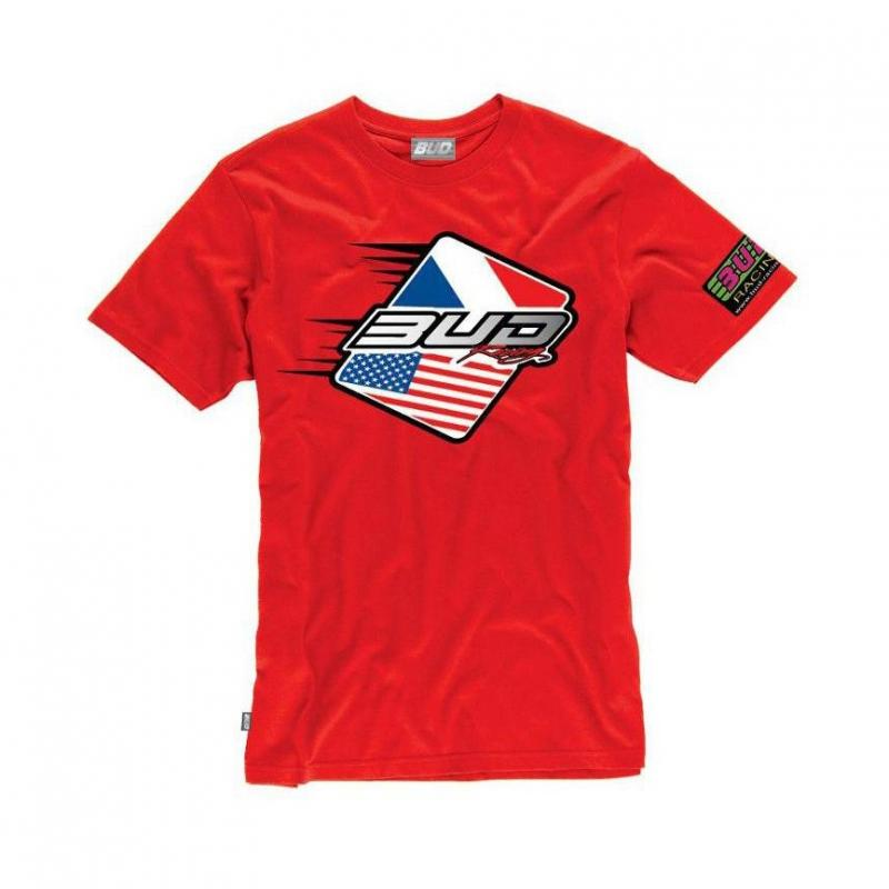 Tee-shirt Bud Racing Patriot rouge