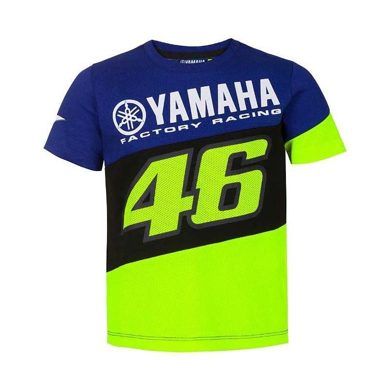 Tee-shirt enfant VR46 Racing Yamaha bleu/noir/jaune