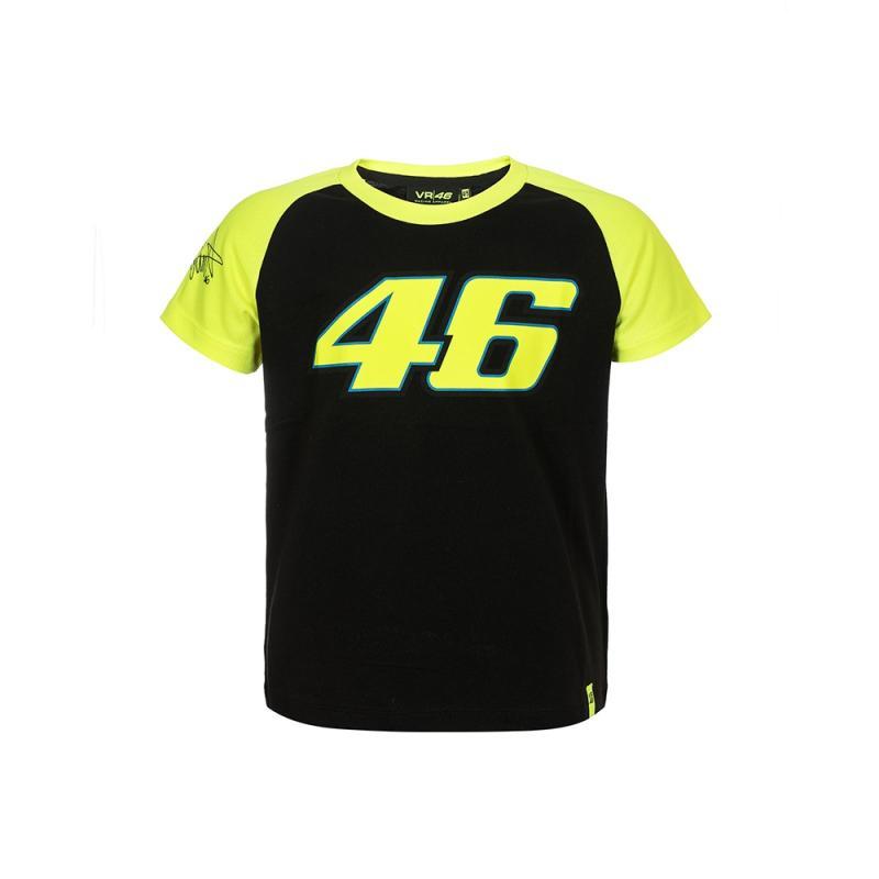 Tee shirt enfant VR46 Valentino Rossi Race noir 2018