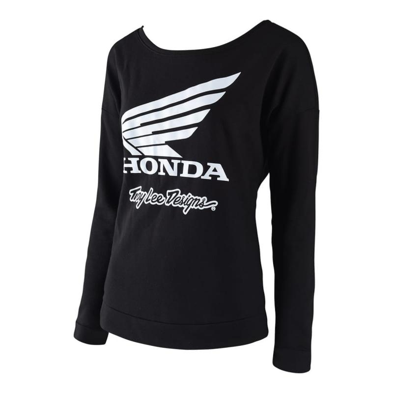 Tee-Shirt femme manches longuesTroy Lee Designs Honda Wing Crew noir