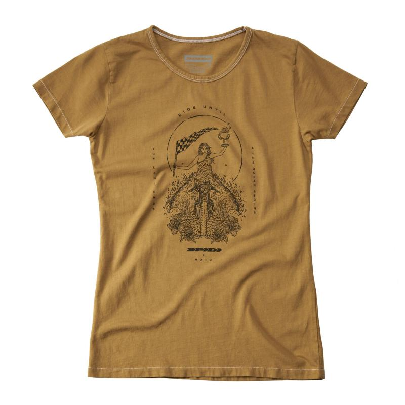 Tee-shirt femme Spidi Lady Flag kaki
