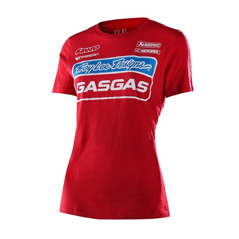 Tee-shirt femme Troy Lee Designs Team Gas Gas rouge