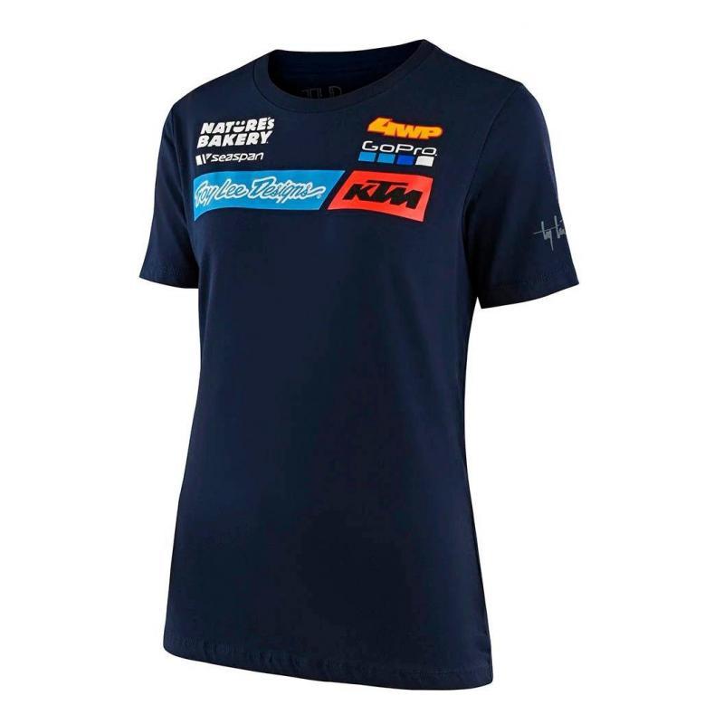 Tee-shirt femme Troy Lee Designs Team KTM 2020 navy