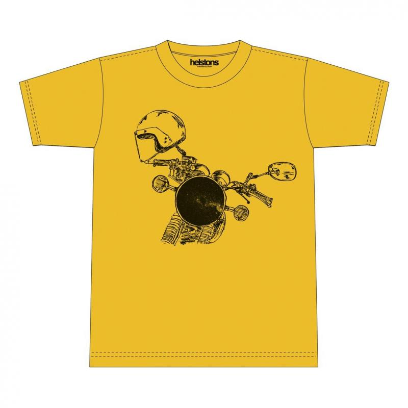 Tee-shirt Helstons Headlight jaune