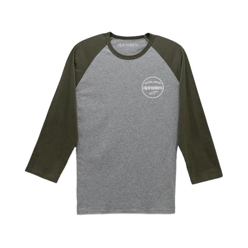 Tee-shirt manches 3/4 Alpinestars Six Three premium gris/military