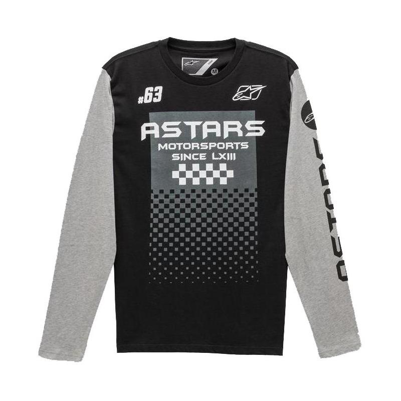 Tee-shirt manches longues Alpinestars Tachen noir/gris