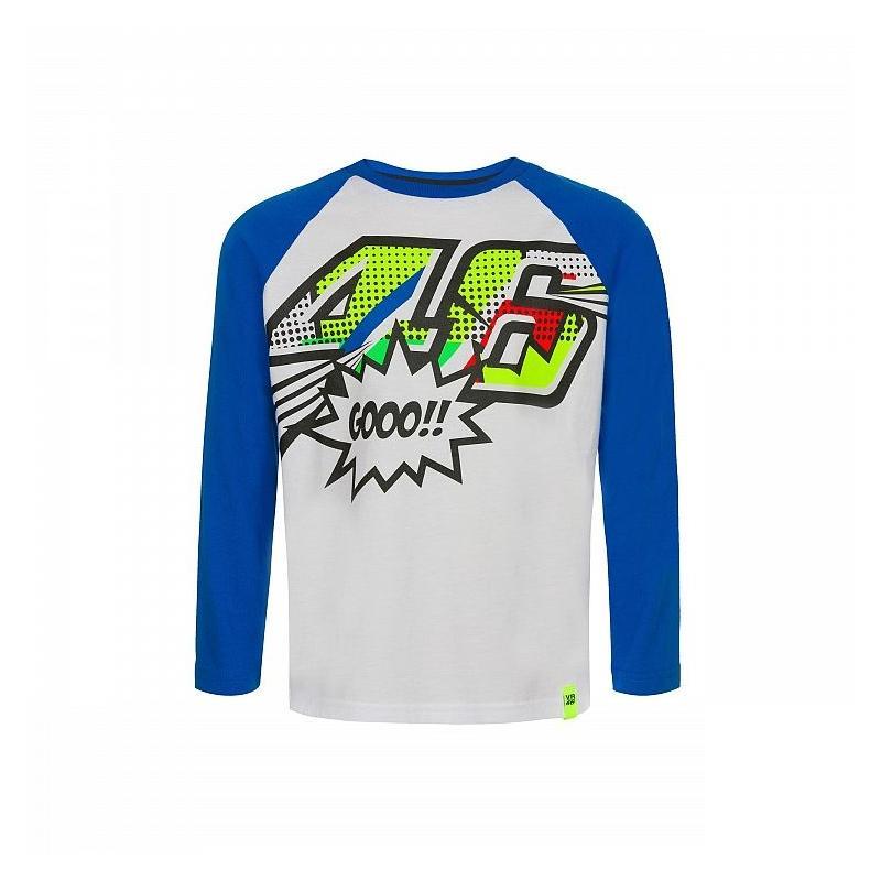 Tee-shirt manches longues enfant VR46 Valentino Rossi Pop Art bleu/blanc 2019
