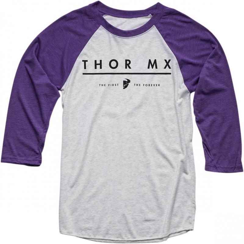 Tee-shirt manches mi-longues femme Thor MX plum