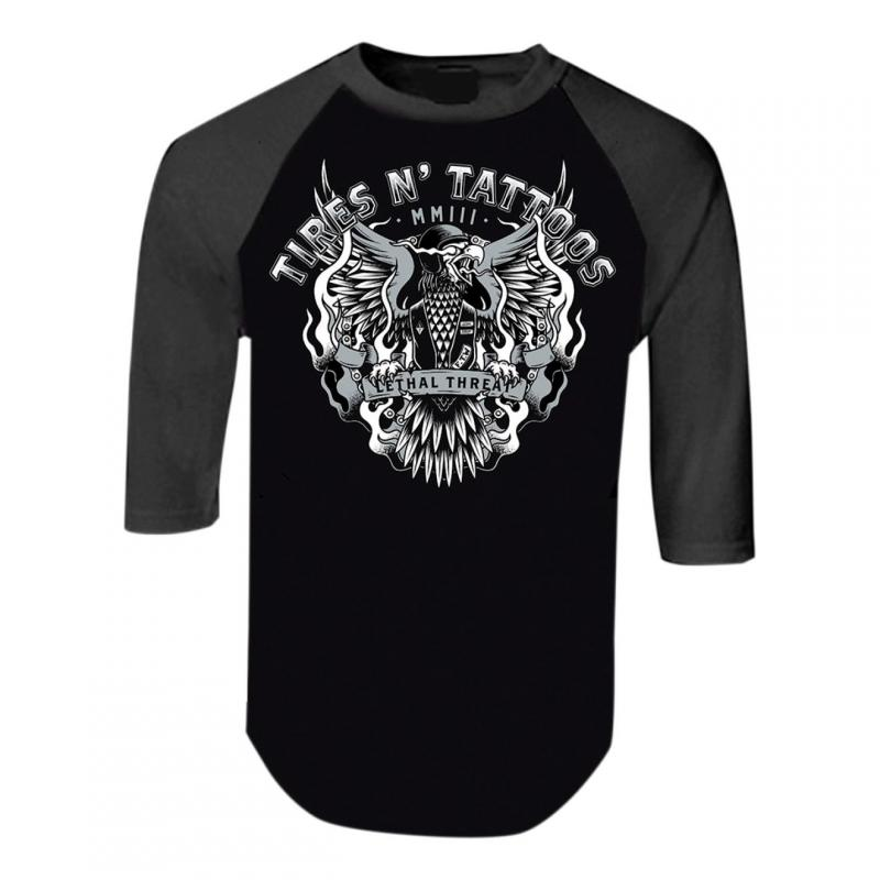 Tee-shirt manches mi-longues Lethal Threat Tires N Tatoo gris/noir