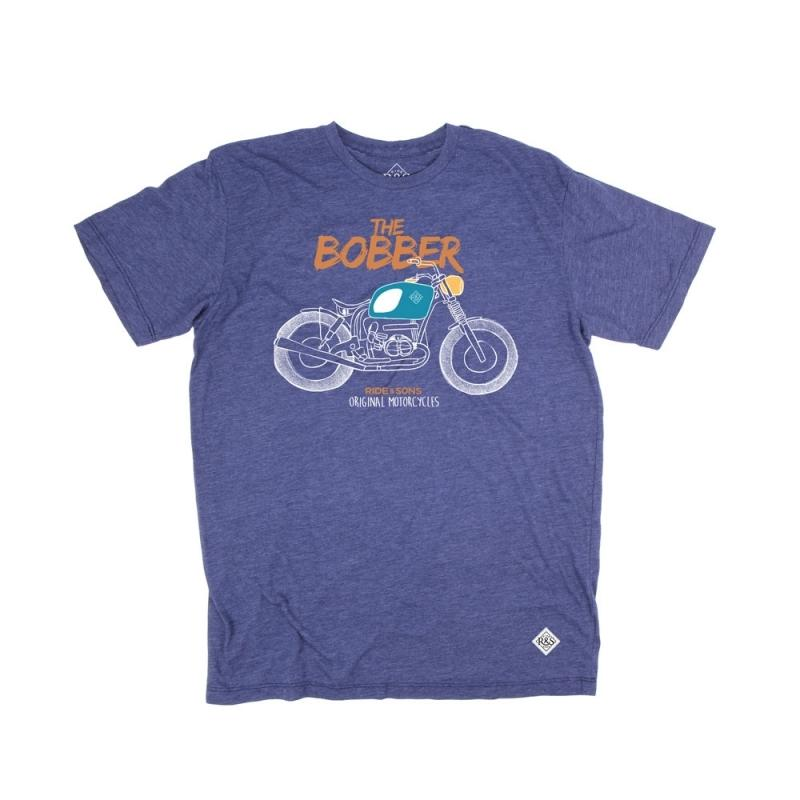 Tee shirt Ride And Sons BOBBER Heather bleu