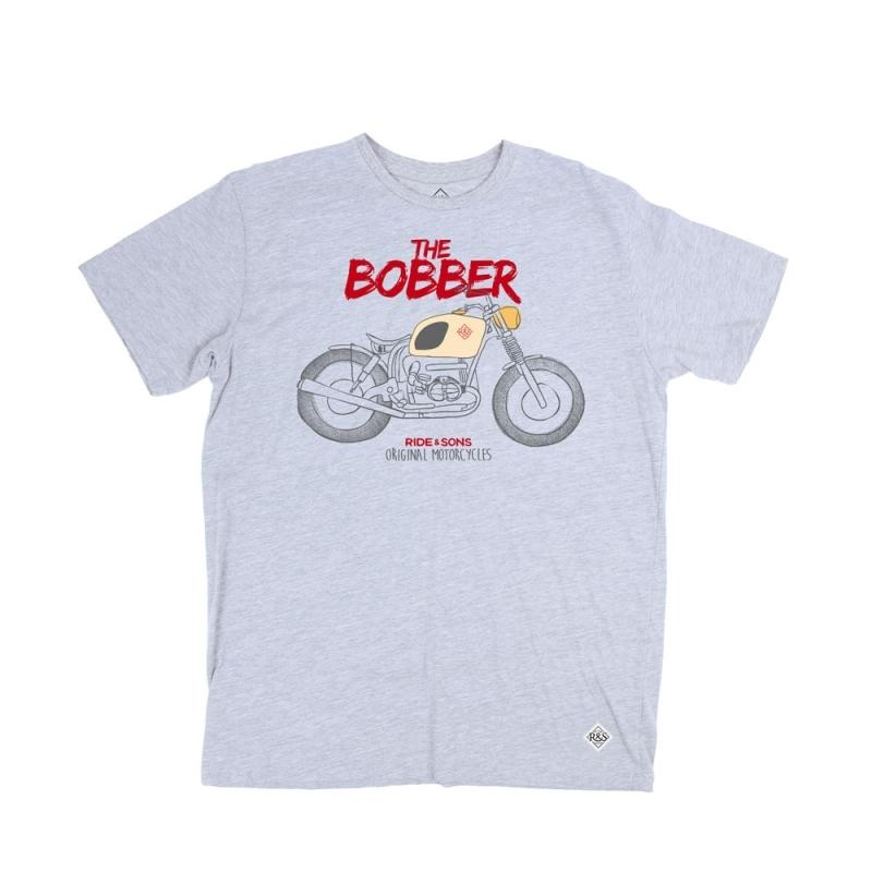 Tee shirt Ride And Sons BOBBER Heather gris