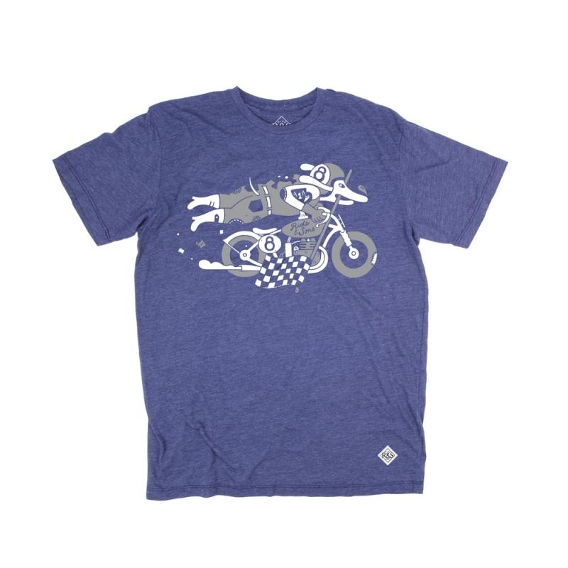 Tee shirt Ride And Sons DAREDEVIL Heather Lucky Lefthand bleu