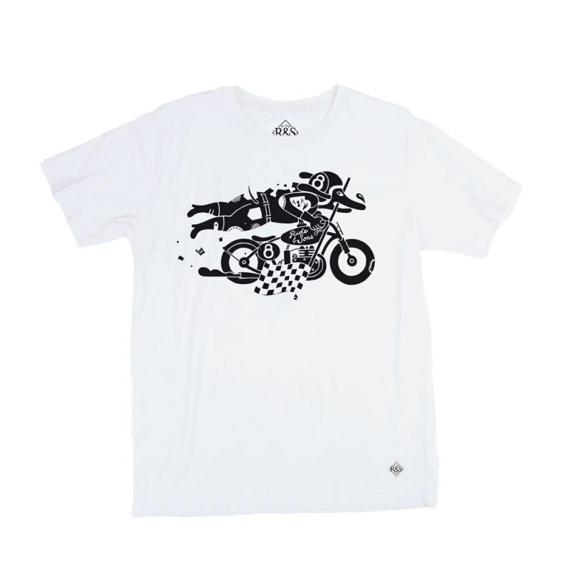 Tee shirt Ride And Sons DAREDEVIL Lucky Lefthand blanc