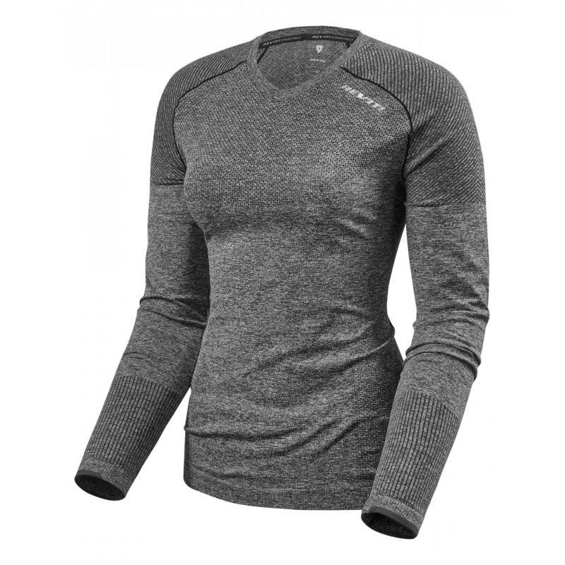 Tee-shirt technique Rev'it Airborne Ladies manches longues gris foncé
