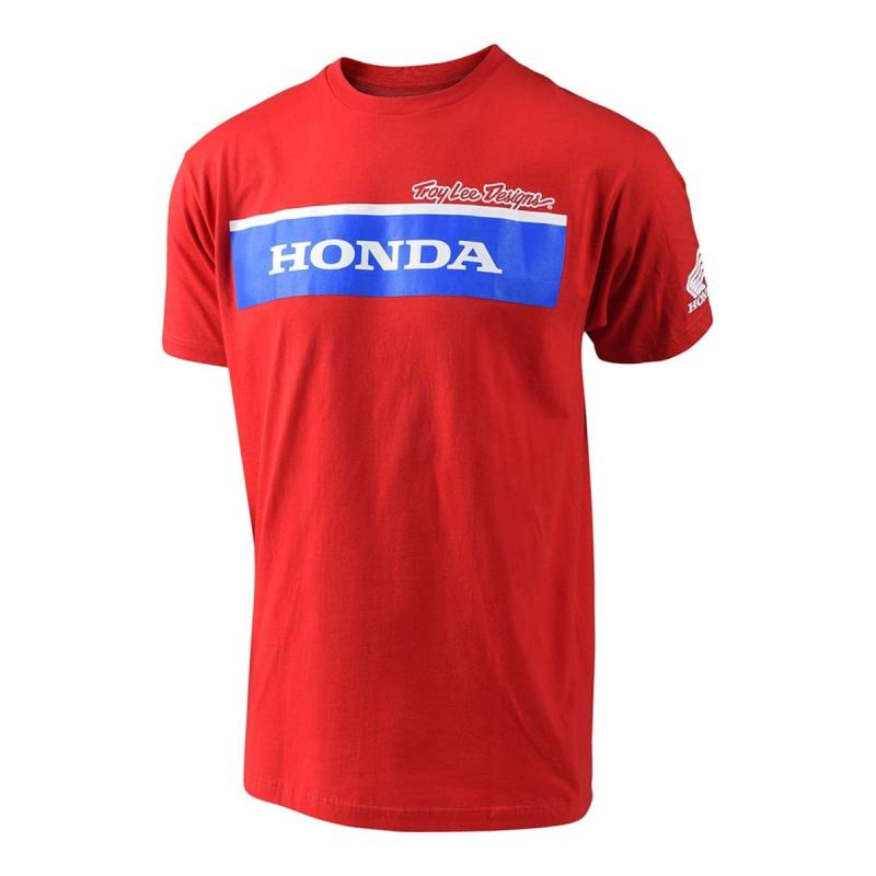 Tee-shirt Troy Lee Designs Honda Wing Block rouge