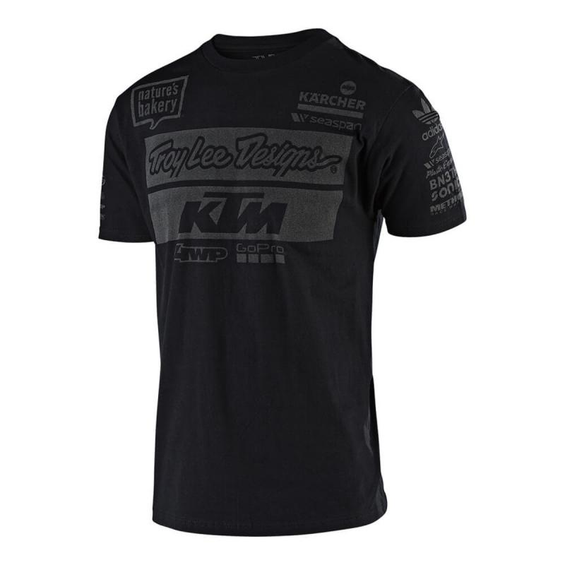 Tee-shirt Troy Lee Designs KTM 2019 noir