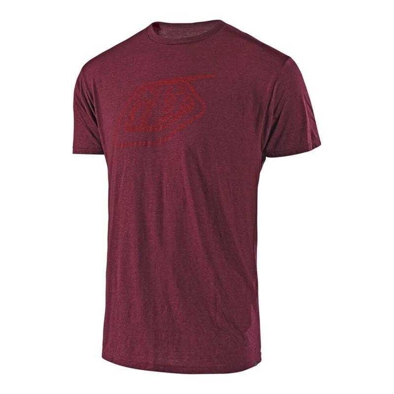 Tee-Shirt Troy Lee Designs Logo sangria red