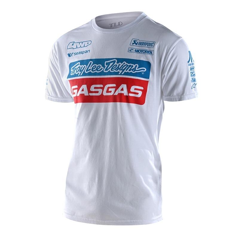 Tee-shirt Troy Lee Designs Team Gas Gas blanc
