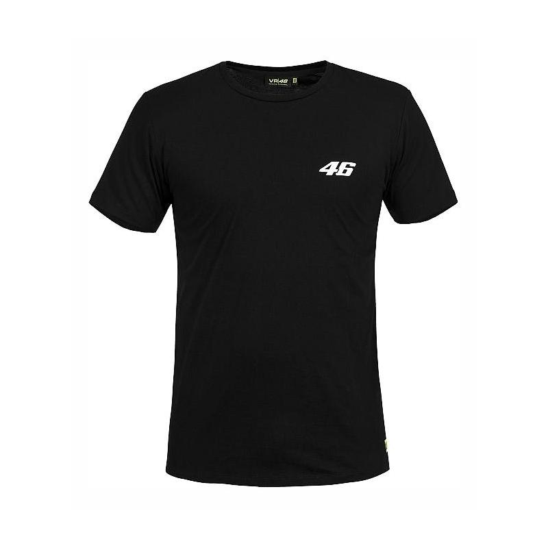 Tee shirt VR46 Core noir (petit numéro)