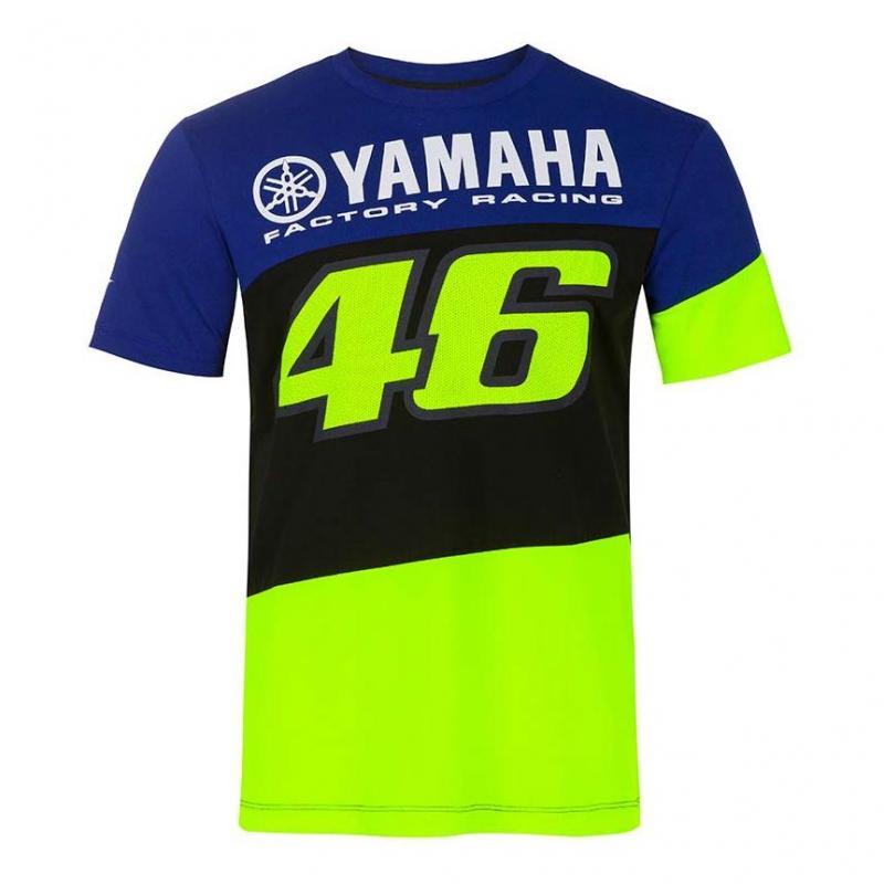 Tee-shirt VR46 Racing Yamaha bleu/noir/jaune