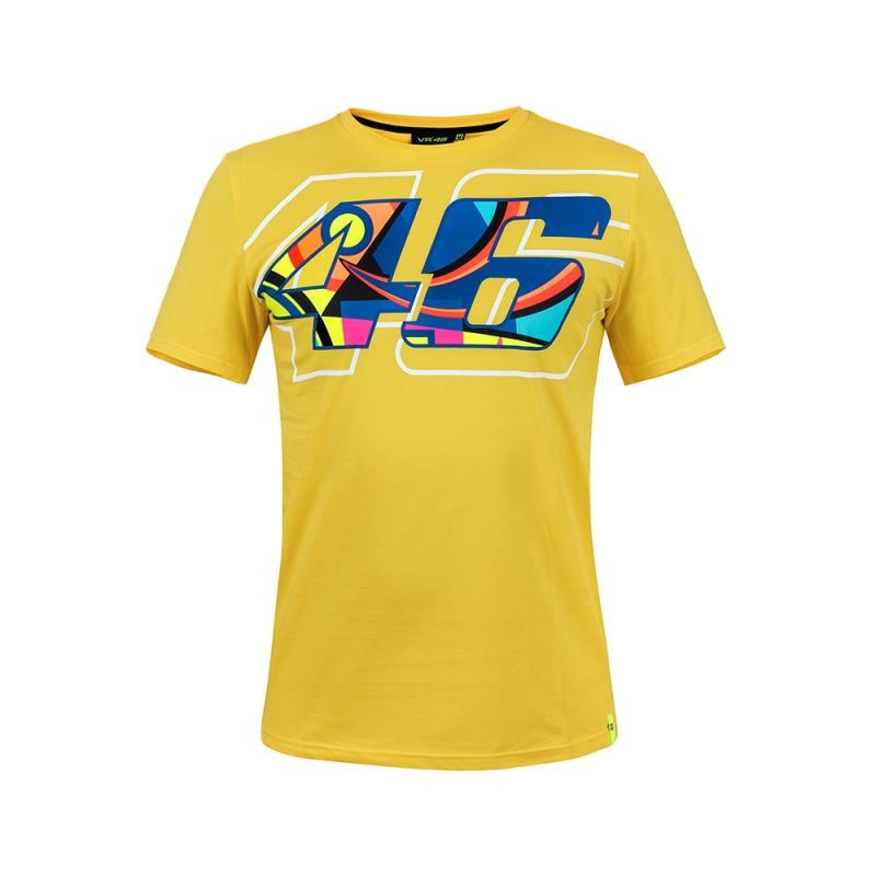 Tee shirt VR46 Valentino Rossi Helmet jaune 2018