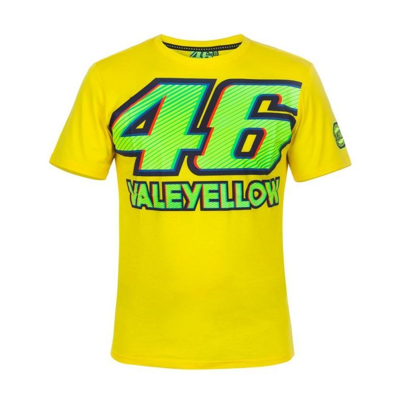 Tee shirt VR46 Valentino Rossi jaune 2017