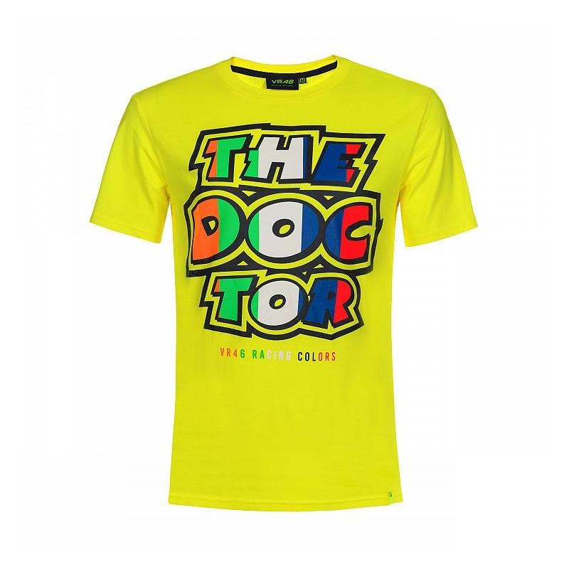 Tee-shirt VR46 Valentino Rossi Stripes The Doctor jaune 2019